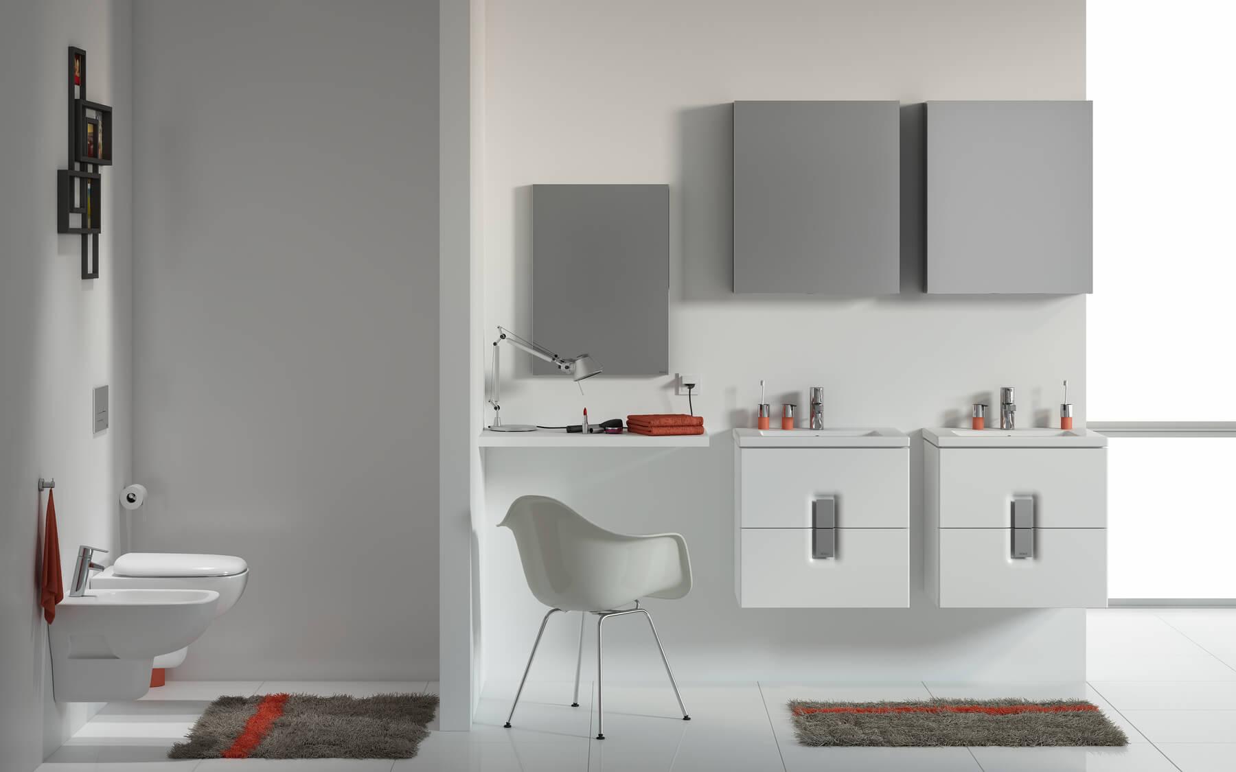 Modna kolekcja mebli łazienkowych i artykułów sanitarnych KOŁO Twins