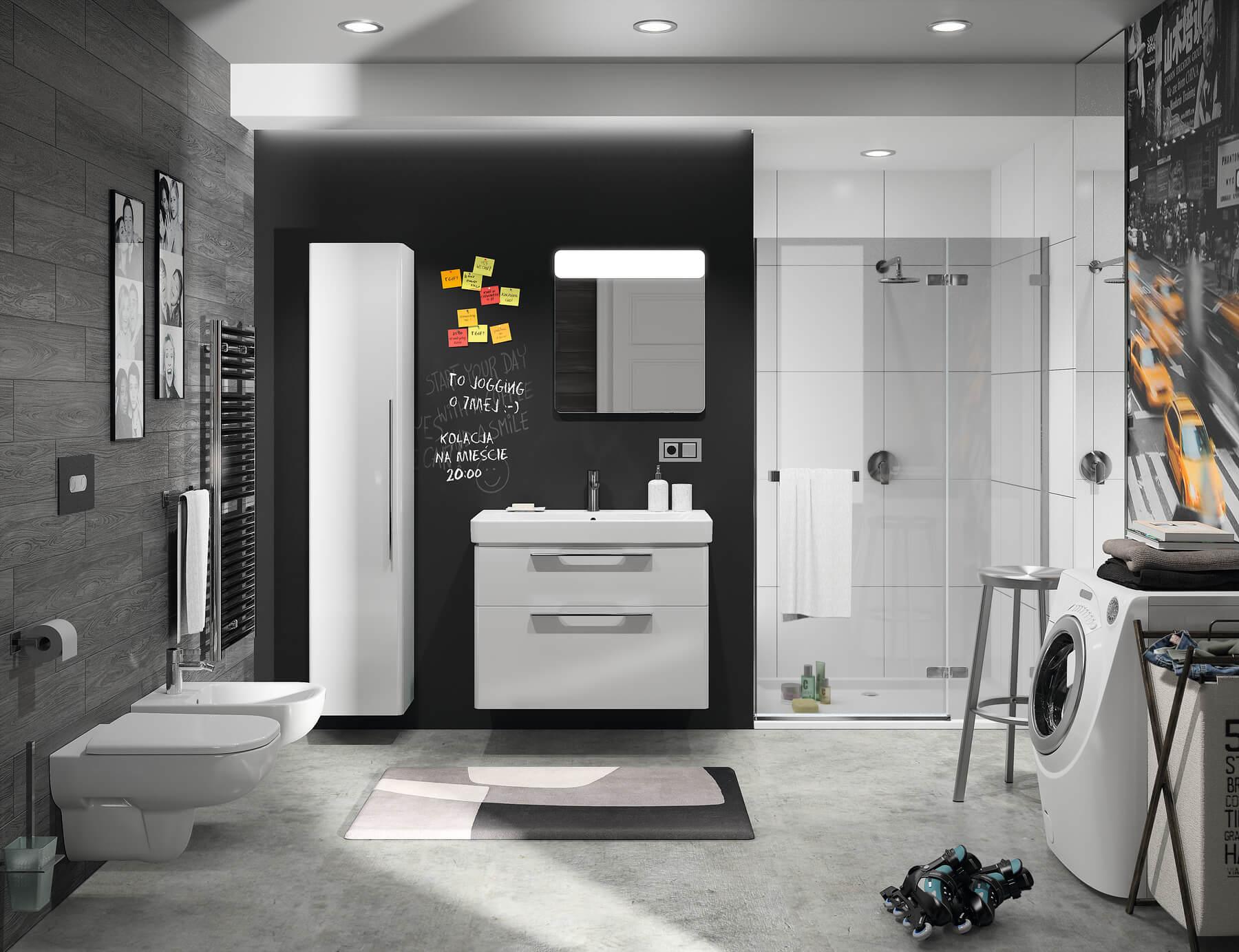 Seria łazienkowa KOŁO Traffic - meble do łazienki, toalety i umywalki do łazienki